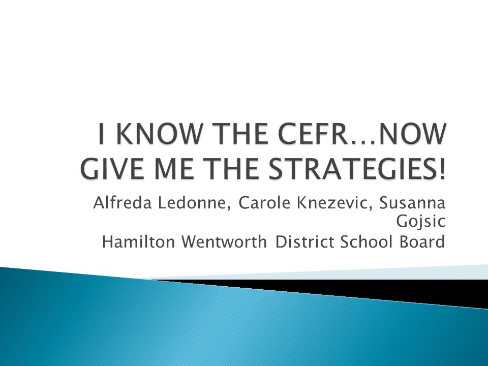 Alfreda Ledonne, Carole Knezevic, Susanna Gojsic Hamilton Wentworth District School Board