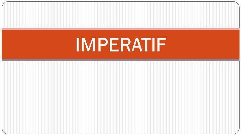 La principale caractéristique de l impératif est de n exister qu à ______________ personnes.