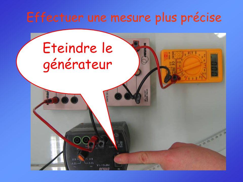 Eteindre le générateur Effectuer une mesure plus précise