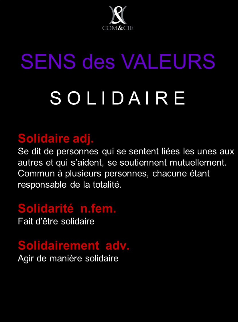 Solidaire adj.