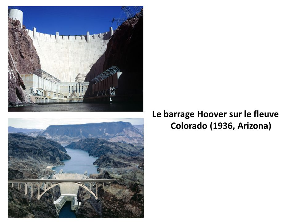 Le barrage Hoover sur le fleuve Colorado (1936, Arizona)