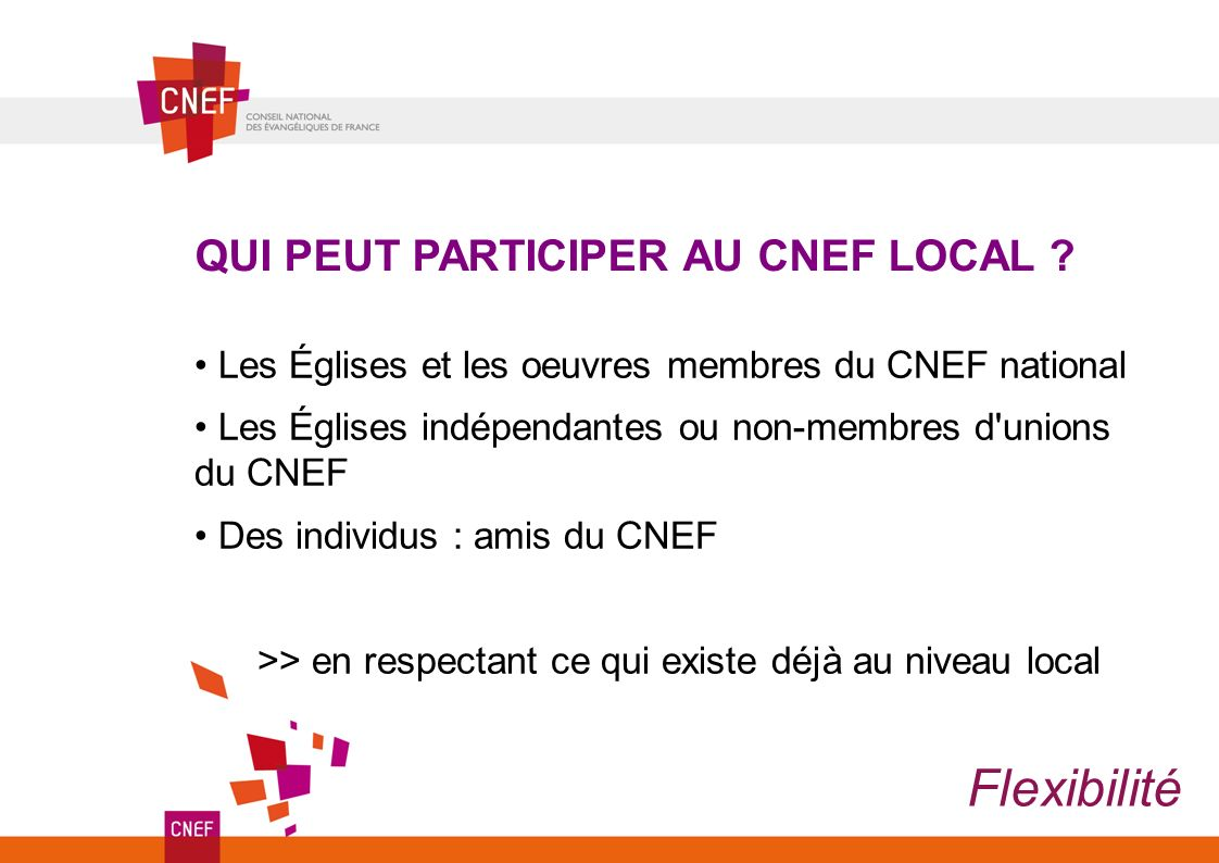 QUI PEUT PARTICIPER AU CNEF LOCAL .