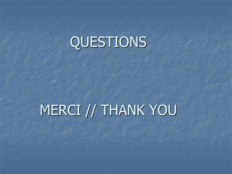 QUESTIONS MERCI // THANK YOU
