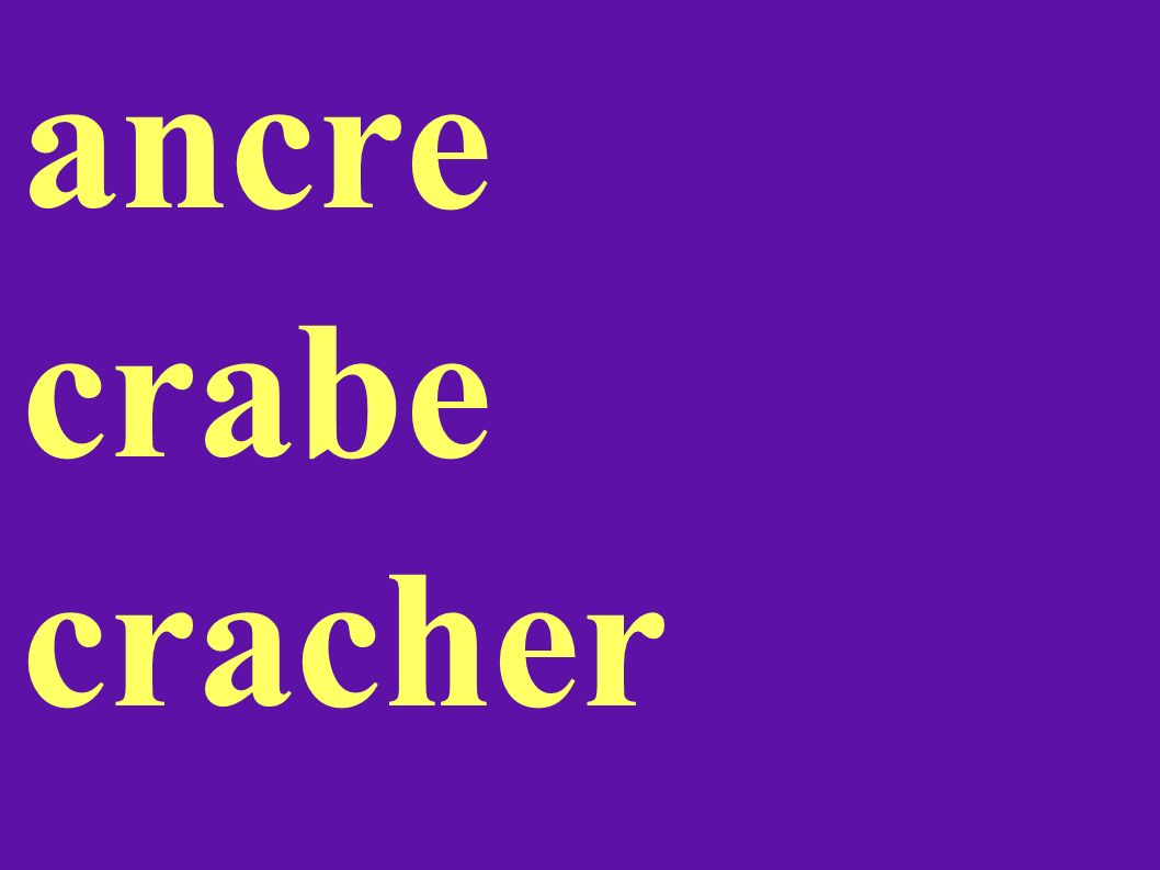 ancre crabe cracher