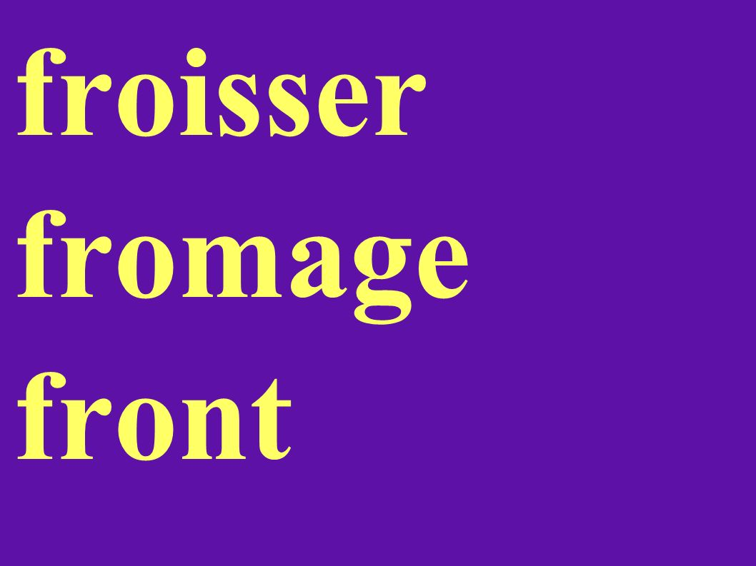 froisser fromage front