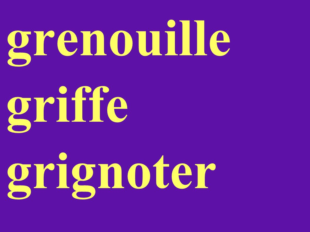 grenouille griffe grignoter