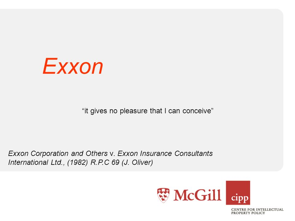 it gives no pleasure that I can conceive Exxon Corporation and Others v.