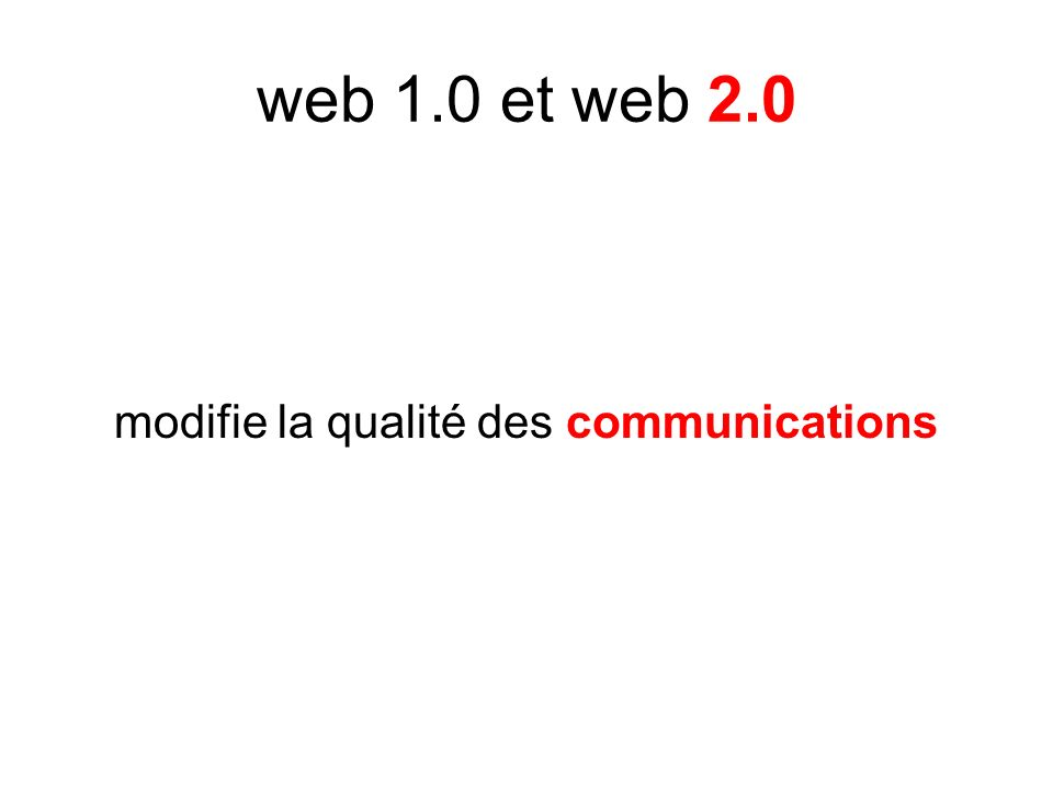 modifie la qualité des communications