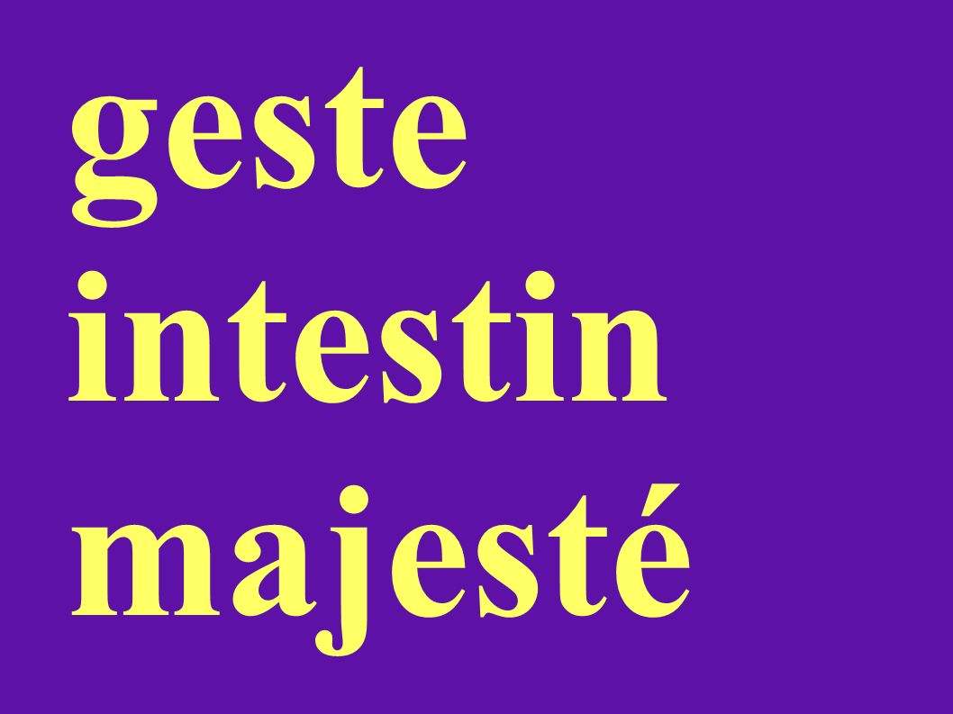 geste intestin majesté
