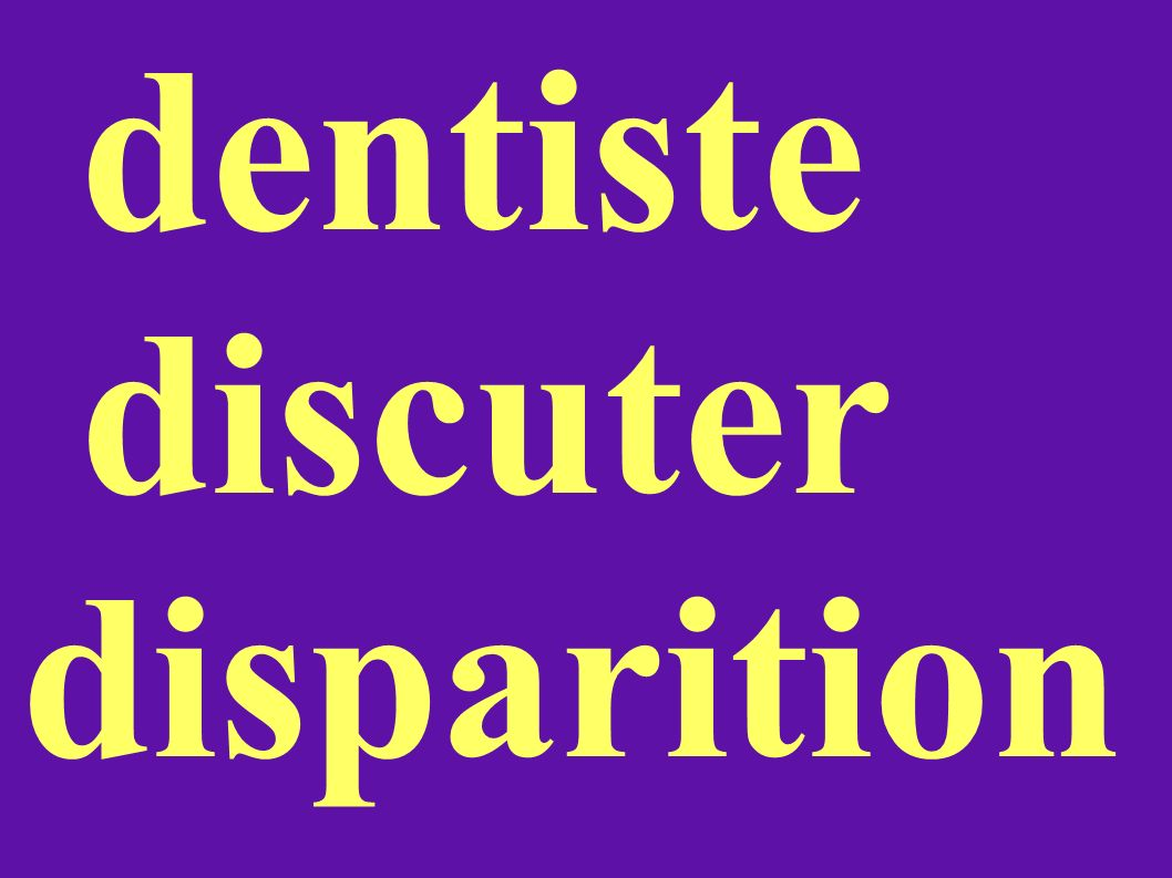 dentiste discuter disparition
