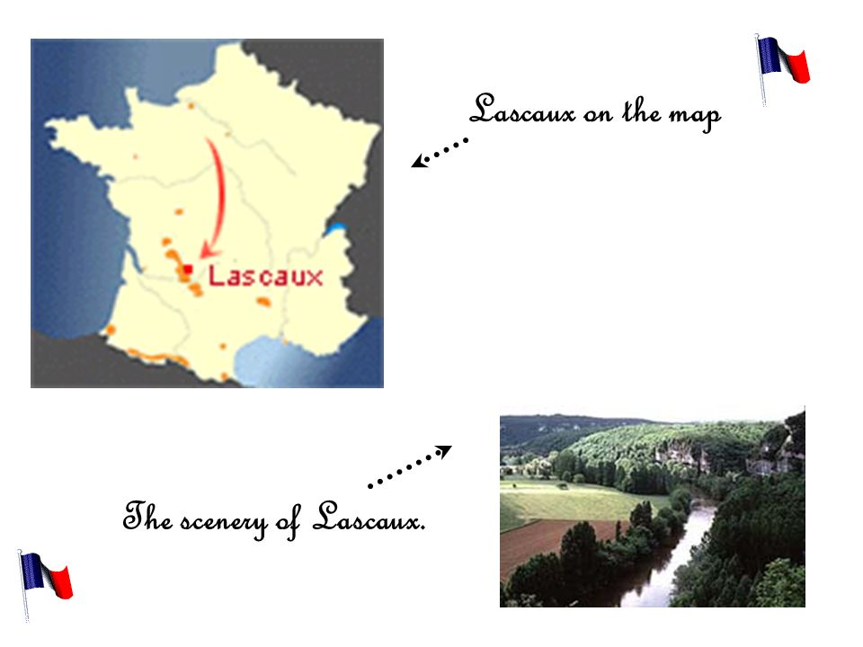 Lascaux on the map The scenery of Lascaux.