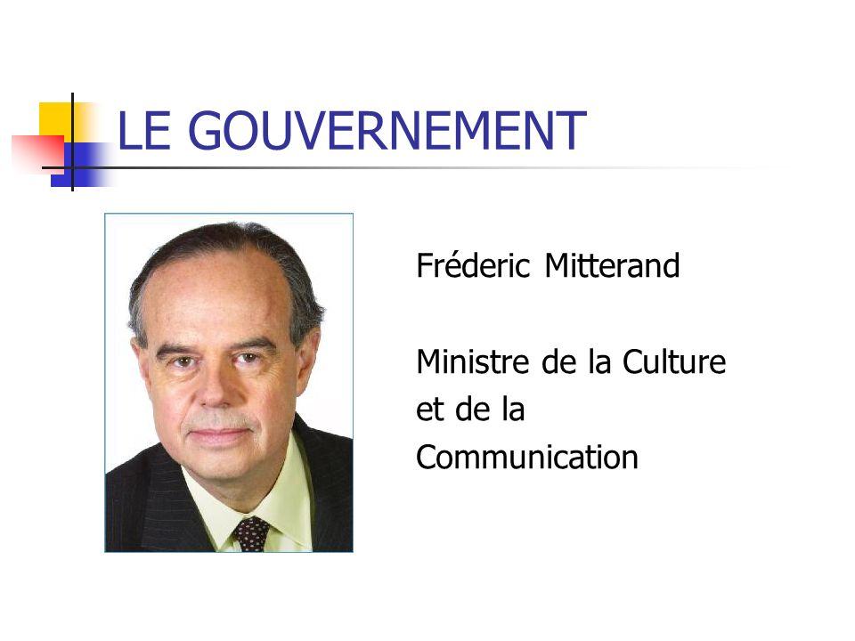 Fréderic Mitterand Ministre de la Culture et de la Communication