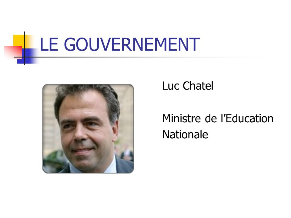 Luc Chatel Ministre de lEducation Nationale