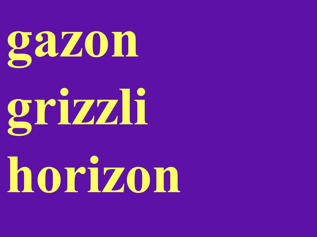gazon grizzli horizon