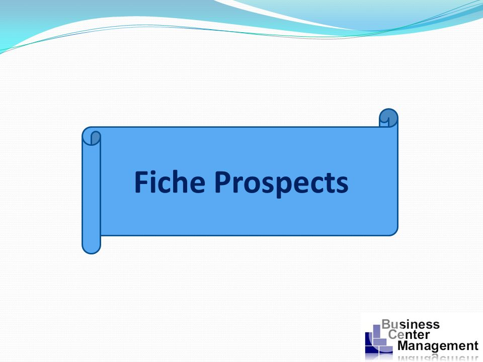 Fiche Prospects