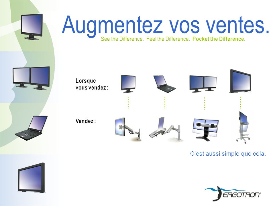 Augmentez vos ventes. See the Difference. Feel the Difference.