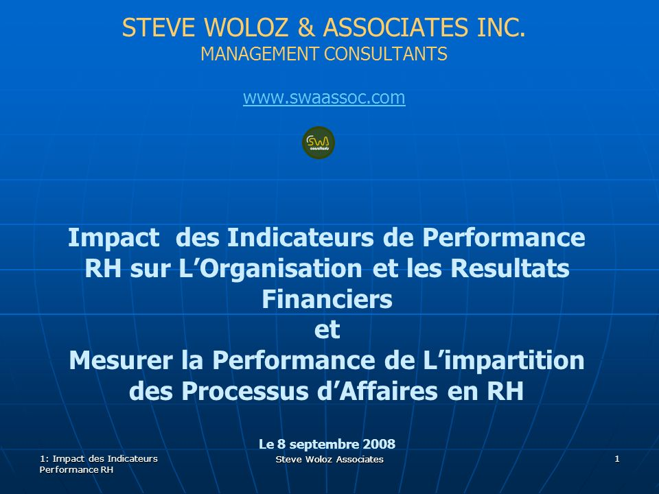 Steve Woloz Associates STEVE WOLOZ & ASSOCIATES INC.