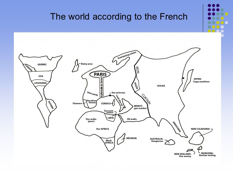 The world according to the French