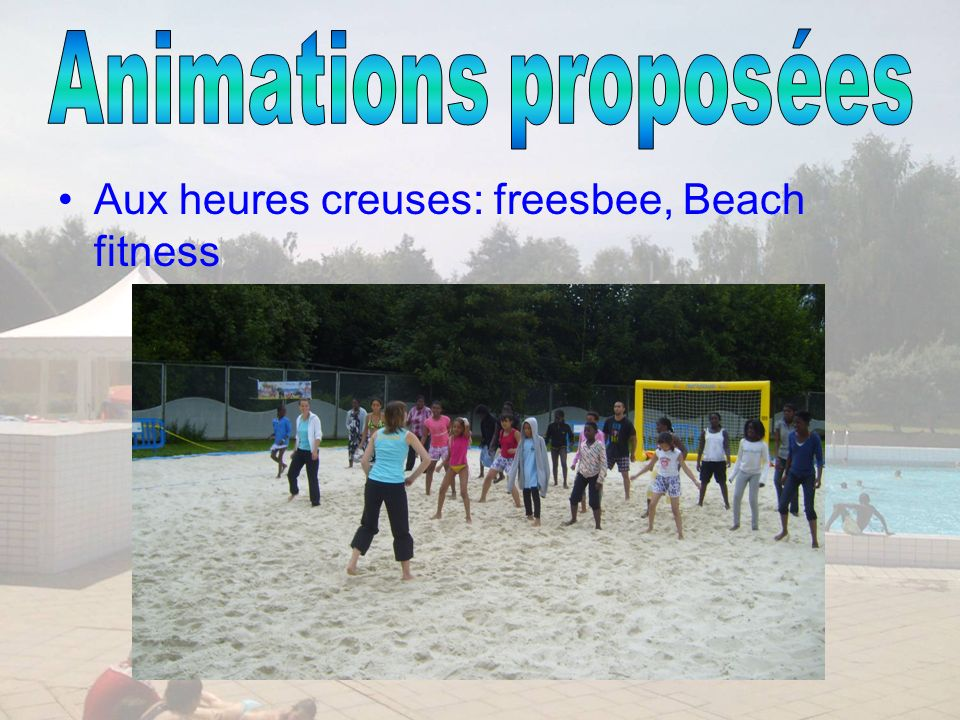Aux heures creuses: freesbee, Beach fitness