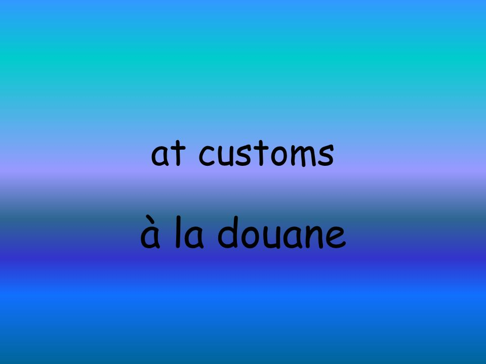 at customs à la douane