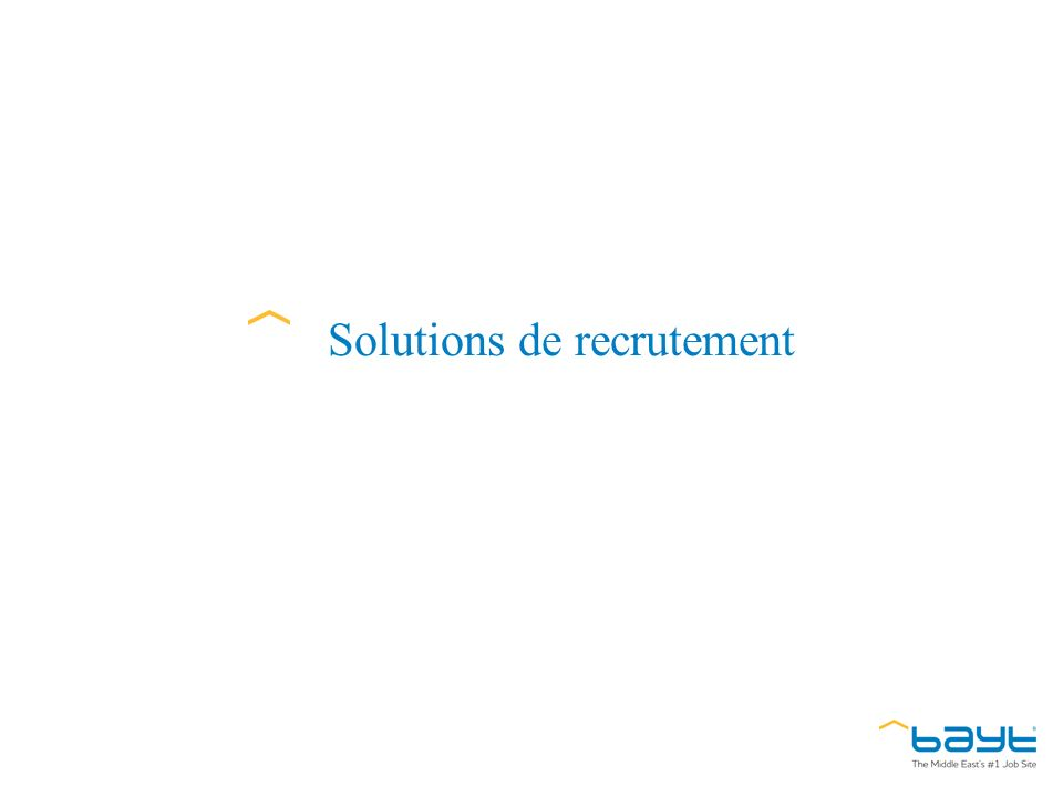 Solutions de recrutement