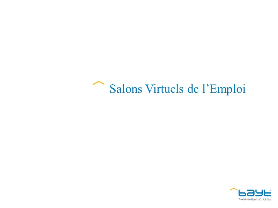 Salons Virtuels de lEmploi