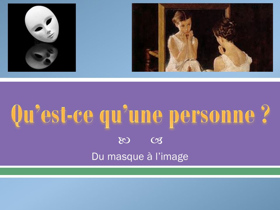 Du masque à limage