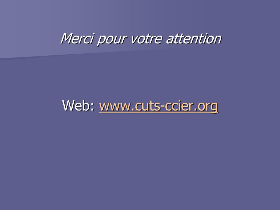 Merci pour votre attention Web: