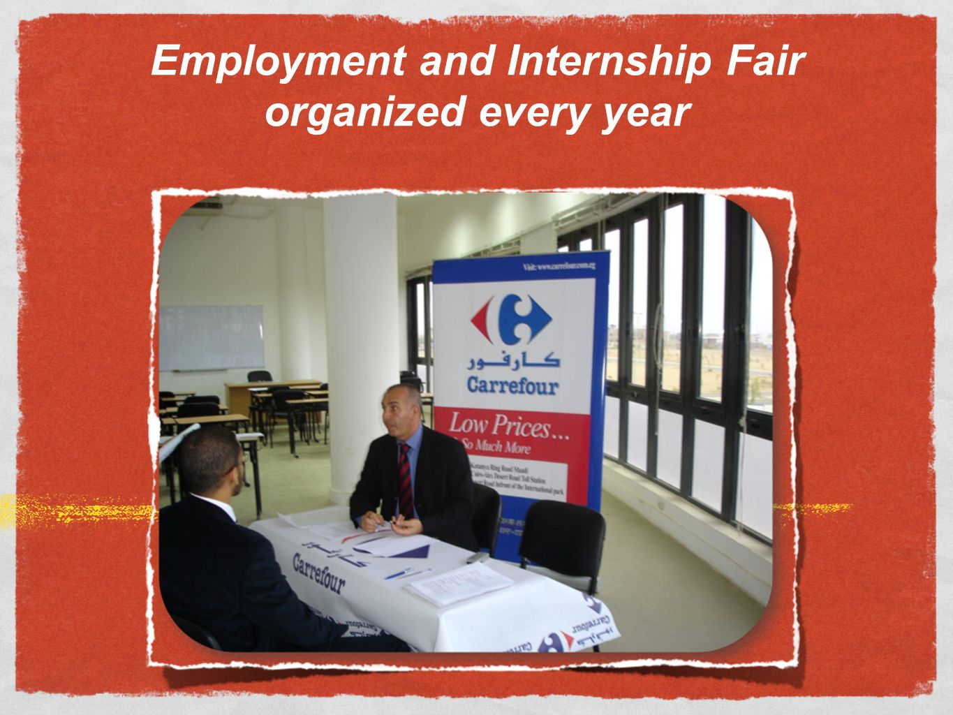 Employment and Internship Fair organized every year