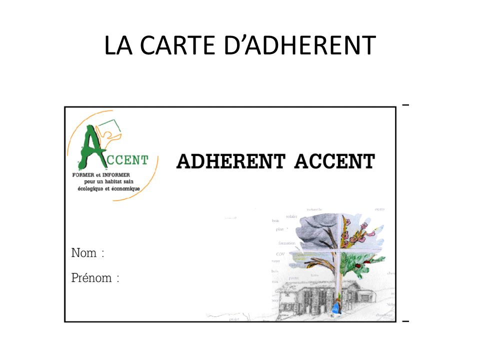 LA CARTE DADHERENT