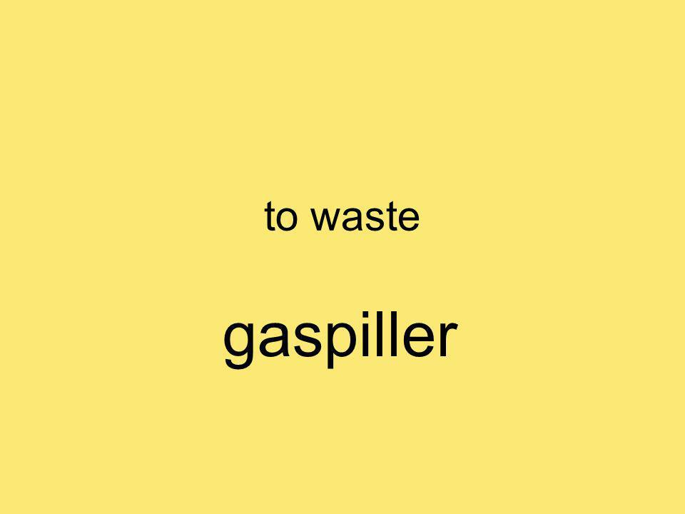 to waste gaspiller