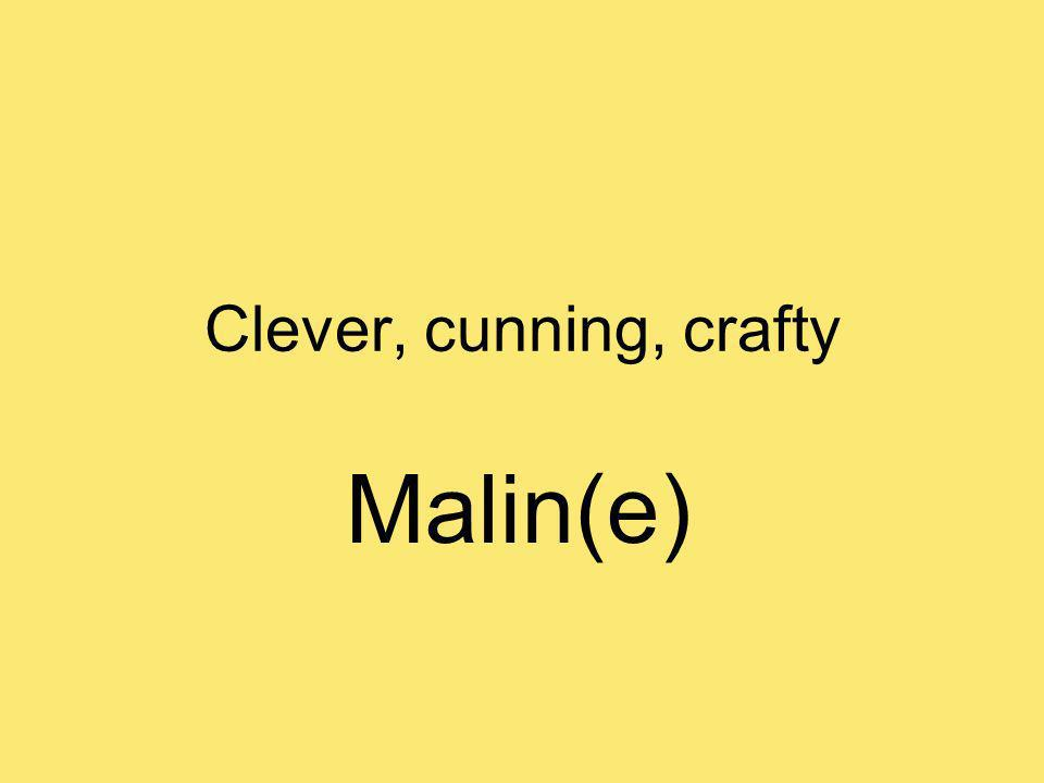 Clever, cunning, crafty Malin(e)