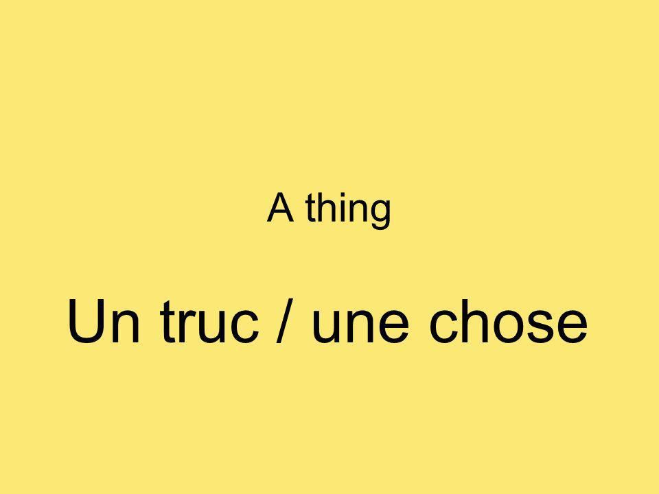 A thing Un truc / une chose