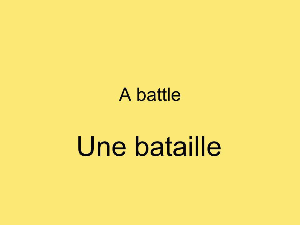 A battle Une bataille