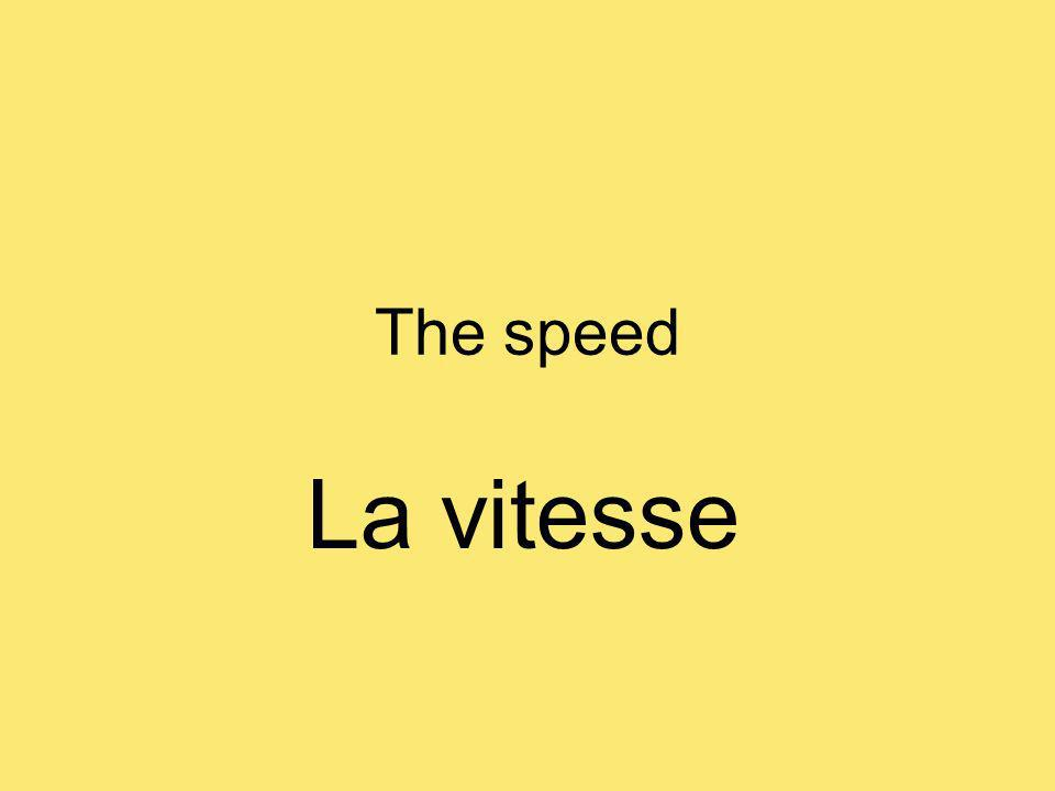 The speed La vitesse