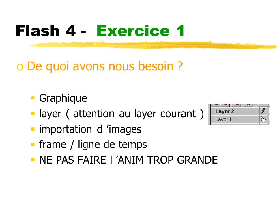 Flash 4 - Exercice 1 oDe quoi avons nous besoin .