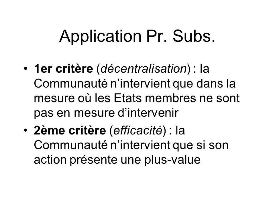 Application Pr. Subs.