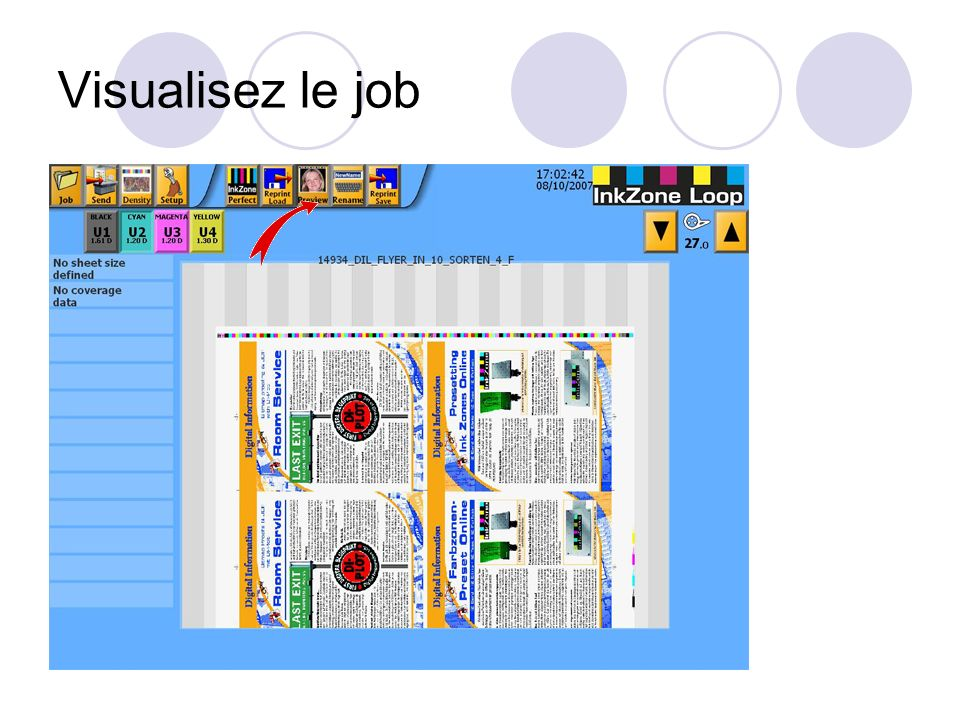 Visualisez le job
