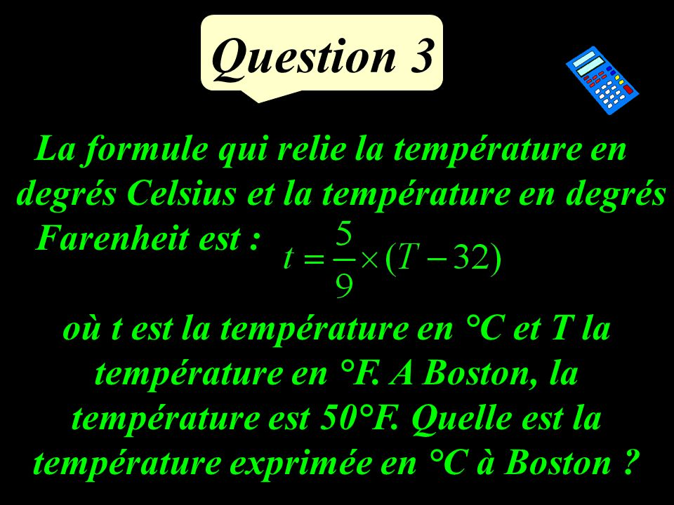 Question 2 Calculer BC à un dixième. 5 cm B A C 47°