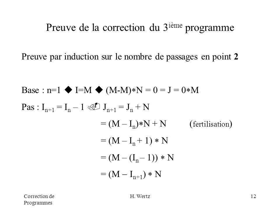 Correction de Programmes H.