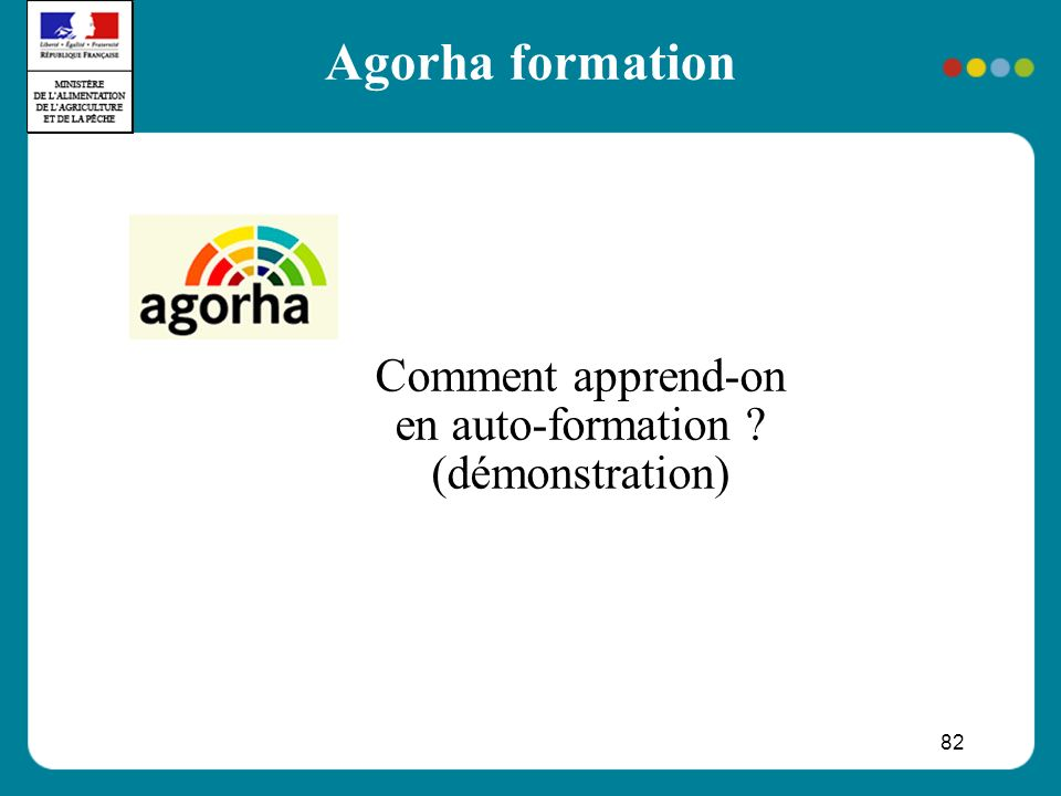 82 Agorha formation Comment apprend-on en auto-formation (démonstration)