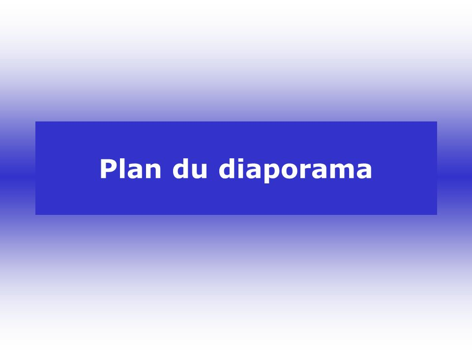 Plan du diaporama