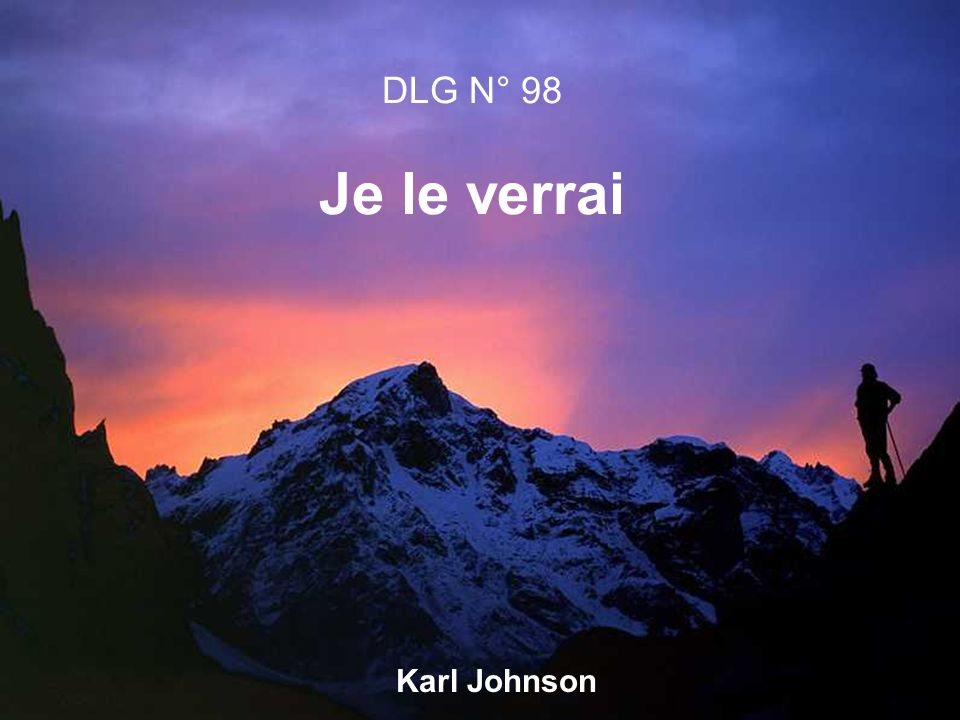 Karl Johnson DLG N° 98 Je le verrai