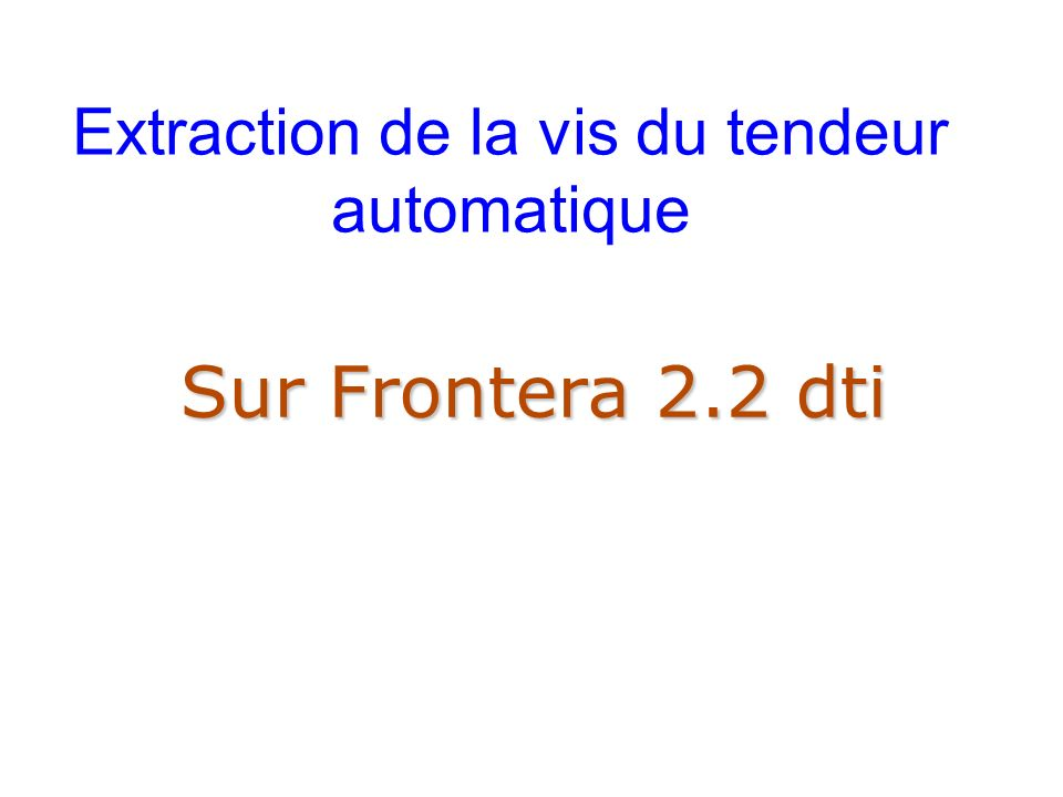 Extraction de la vis du tendeur automatique Sur Frontera 2.2 dti
