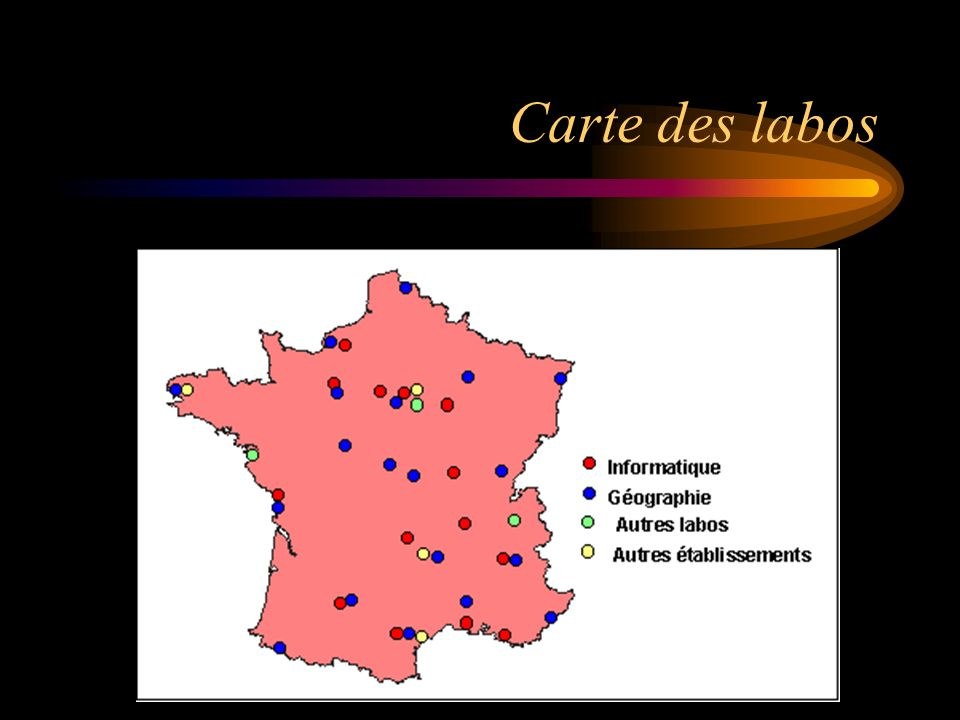 Carte des labos