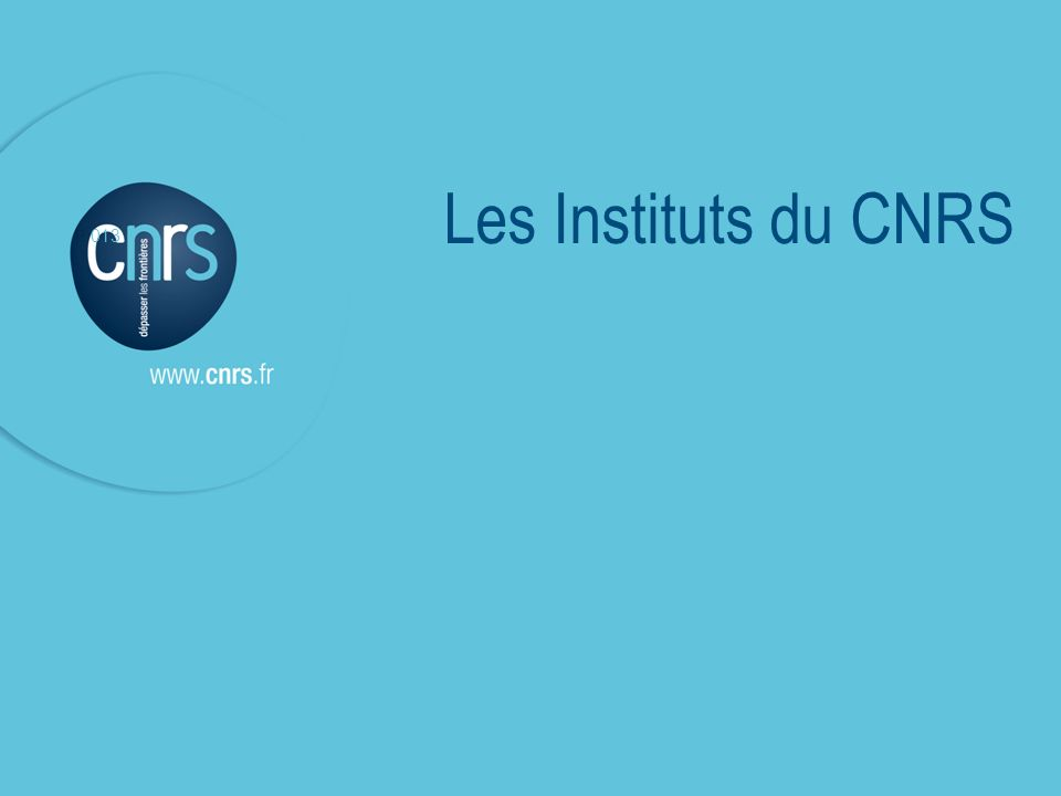 P P. 013 Les Instituts du CNRS