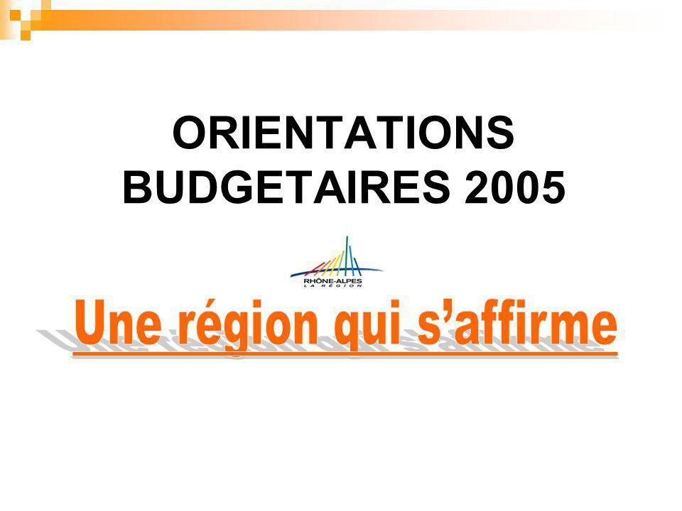 ORIENTATIONS BUDGETAIRES 2005