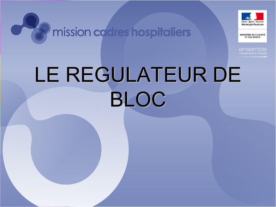 LE REGULATEUR DE BLOC