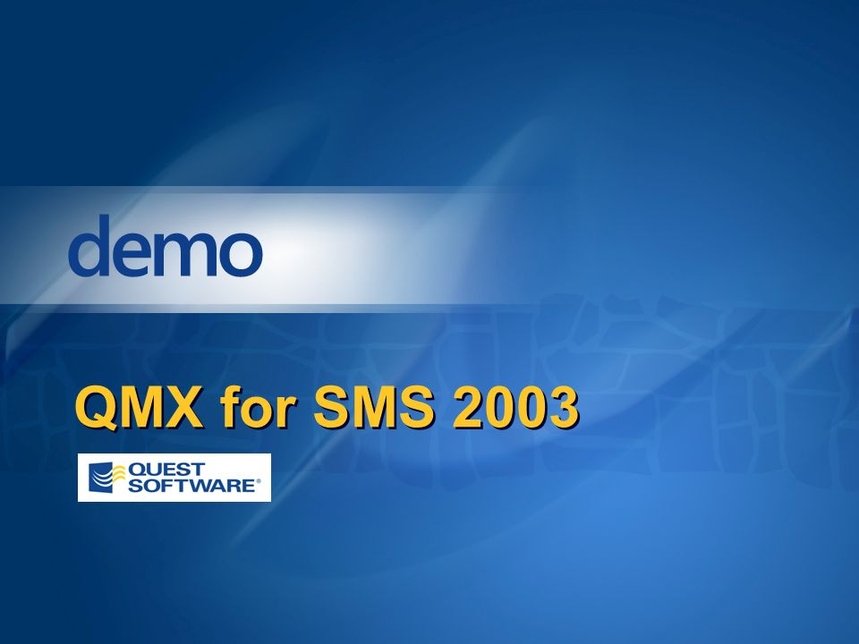 QMX for SMS 2003