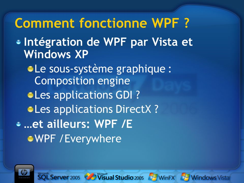 Comment fonctionne WPF .